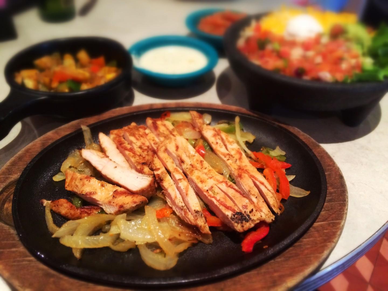 Chuy's chicken fajita's with cream jalapeno sauce